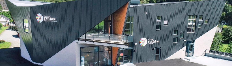 Skilbreibutikken i Naustdal. Foto: Byggmester Stølsvik AS